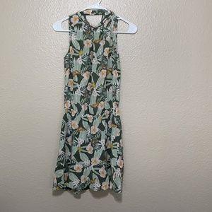 JOIE halter ruffle mini dress floral Sz XXS $348